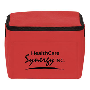 Promotional Items-Non-Woven Six Pack Lunch Bag14620-316 14620 Red