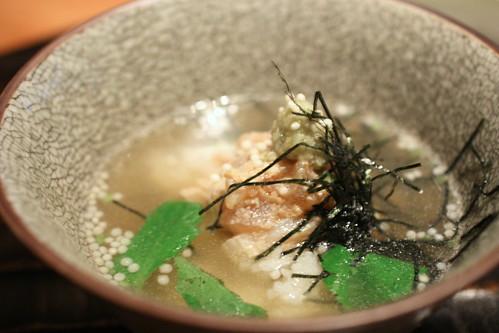 Gohan mono (rice dish): tai chazuke