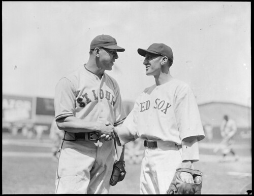 Black And White People Shaking Hands. St. Louis Browns player shakes
