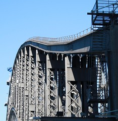 Looking at the Harbour Bridge from the pedestrian walk way (Tamamareen) Tags: sydneyharbourbridge lizybones