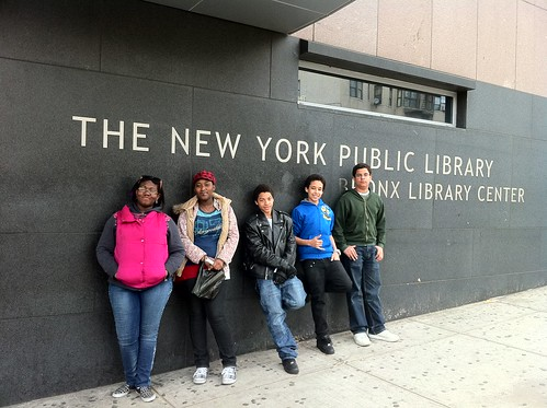 At the Bronx Library Center