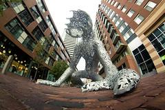 Koilos (tomms) Tags: sculpture toronto distillerydistrict michaelchristian 8mm peleng fishey koilos