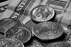 money b&w (loco's photos) Tags: blackandwhite bw money 50mm one washington coin pentax coins penny dollar lincoln change quarter 17 nickel jefferson kr currency truman pentaxa50mmf17 pentaxa5017 pentaxkr