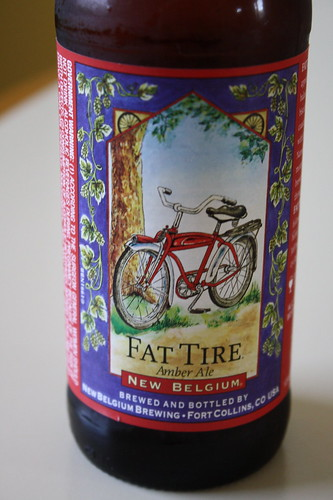 new belgium fat tire amber ale beer