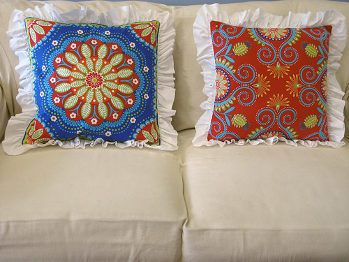 Ruffled Pillows Project