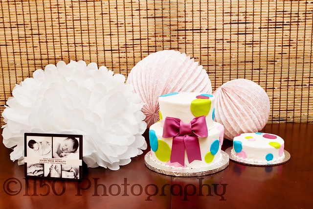 first birthday photography cake