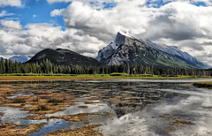Majestic Mount Rundle (Jeff Clow) Tags: travel lake canada mountains nature landscape mountrundle albertacanada banffnationalpark canadianrockies vermilionlakes abigfave gapr