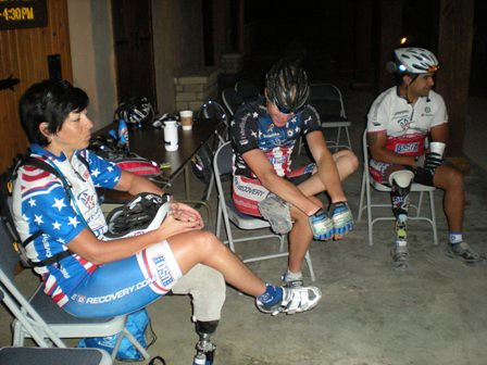 A few warriors rest before heading out on day 2