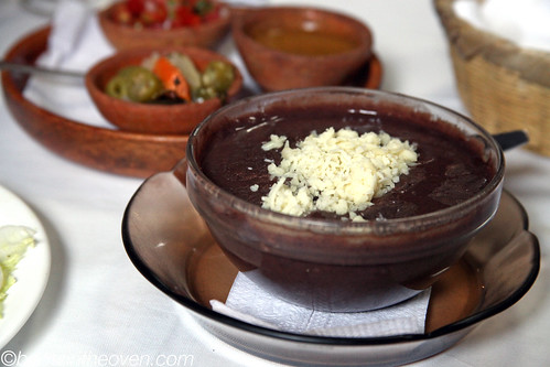 Sopa de Frijoles with cheese!