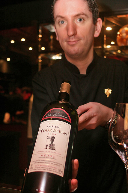 The Chateau Tour Seran 2004 en magnum is specially bottled for Joël Robuchon