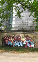 dead blue skin (RABBIT EYE MOVEMENT) Tags: vienna rabbit london eye graffiti canal movement kanal danube donau