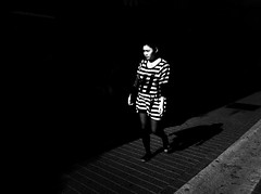 """The Year of the Zebra"" (Sion Fullana) Tags: light shadow people urban blackandwhite bw espaa painterly blancoynegro beauty spain alone stripes citylife streetshots streetphotography beautifullight zebra mallorca palma allrightsreserved majorca beautifulgirl iphone girlwalking peoplewalking urbanshots iphone4 iphonephotography iphoneshots iphoneography iphoneographer sionfullana editedanduploadedoniphone iphonestreetphotography throughthelensofaniphone"