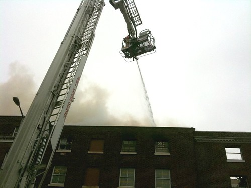 47 Hawley Square burning