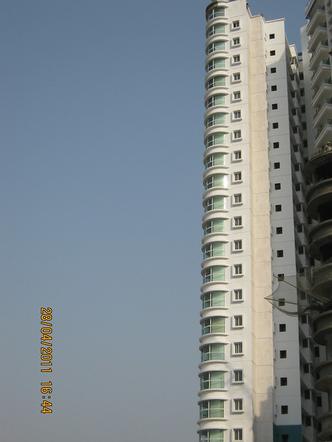 Round balconies of B Towers in  Sangria Towers at Megapolis Hinjewadi Phase 3, Pune