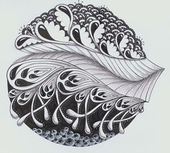 morris challenge 2 (Jo in NZ) Tags: drawing doodle zentangle nzjo