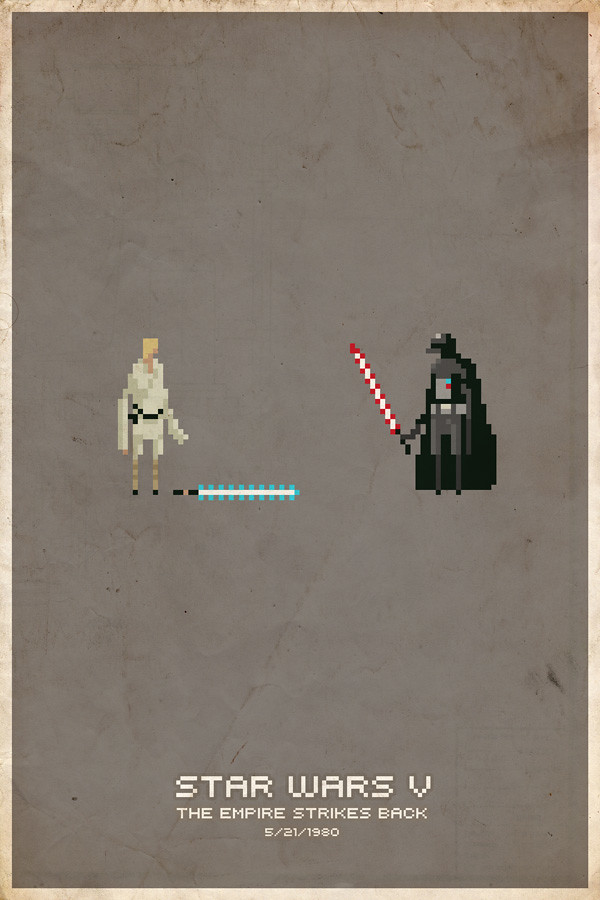 Empire Strikes Back Pixel Poster
