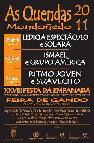 Mondoñedo 2011 - As Quendas - cartel