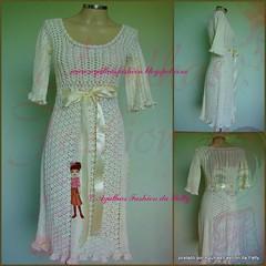 Vestido Duquesa (Agulhas Fashion da Patty) Tags: dress crochet vestido croche