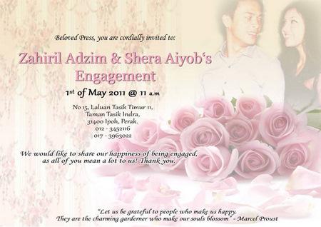 Zahiril Adzim dan Shera Aiyob Selamat Bertunang