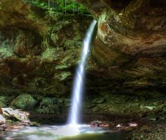 Pam's Grotto (right) (jball359) Tags: canon waterfall tripod canyon slowshutter grotto highkey hdr bluff xsi circularpolarizer ozarkmountains promaster photomatix lglass ozarknationalforest 1740mmf4lusm hawcreekfalls pamsgrotto pse9 photoshopelements9