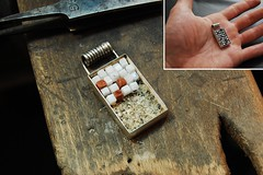 Pixel pendant in progress (Blind Spot Jewellery) Tags: stone silver necklace blind mosaic contemporary jewelry mosaico spot jewellery chain pixel marble pendant jewel blindspot blindspotjewellery
