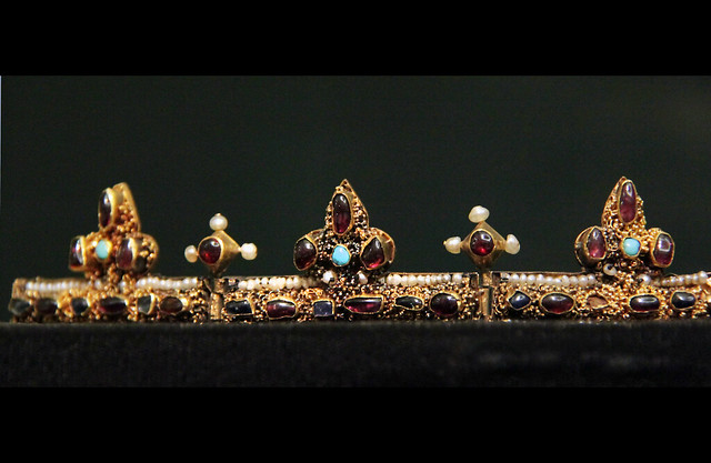 Funeral crown of the queen, Anna of Antioch - Found from the graves of Béla III (1172-96)