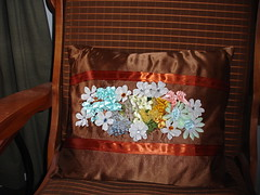 Spring flower pillow...