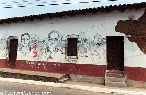Oscar Romero's face is everywhere