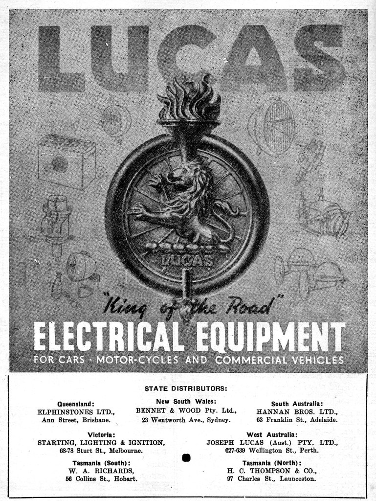 1951 Lucas Electrical equipment ad