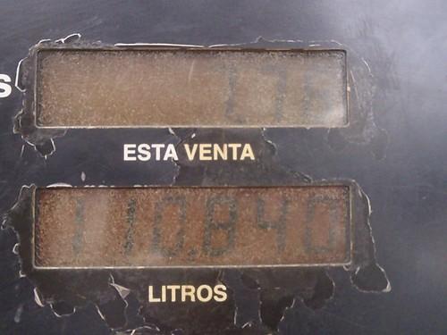 110.840 Litros por 7.76 bolivares