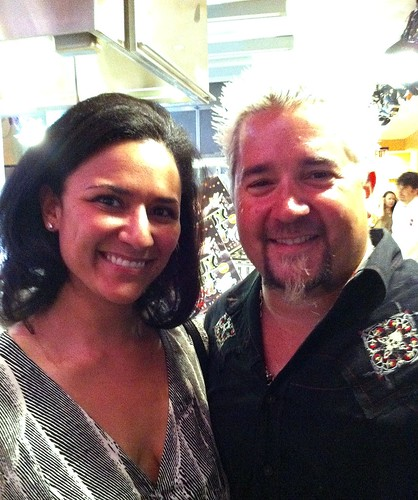 Meeting Guy Fieri at Food Network kitchens.