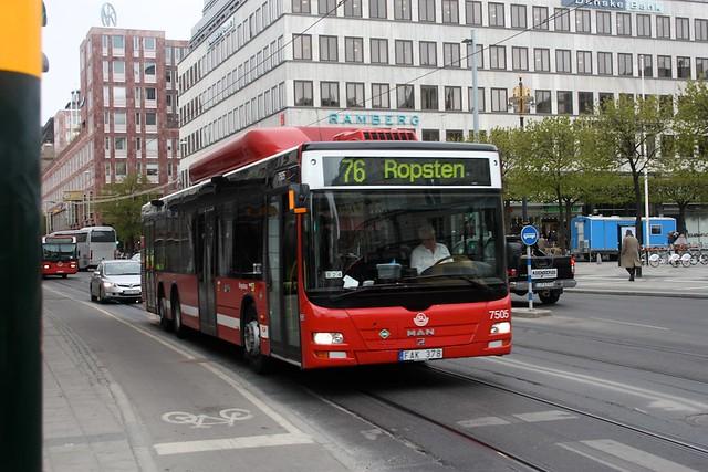 Stockholm bus 7505