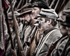 Grit (Mason Photographics) Tags: men monochrome war rifles confederate southern civil pistol soldiers fighting reenactment hdr blackpowder