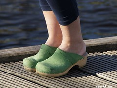 Green Sanita Clogs (berkk_de) Tags: sandals clogs slippers sanita woodenshoes woodenclogs woodensandals berkemann klox