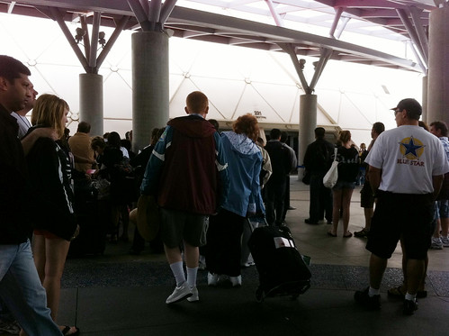Long Beach Cruise Terminal - People Queueing Up for Nothing