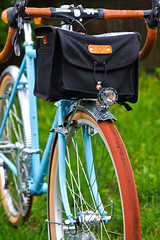 Boulder Bicycle & Acorn bag (WickedVT) Tags: lighting bike bicycle acorn frame build dyno honjo randonneur brevet lowtrail hetre 650b allroad edelux boulderbicycle boxyrandobag