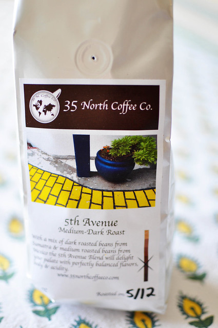 bag of coffee from 35 north