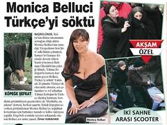 Akşam Gazetesi, Özel Haber, Mart 2011 (yilmazerdogan) Tags: monica haber gazete türkçe belluci gergedan