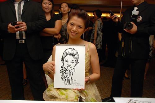 caricature live sketching for Great Eastern Achievers Nite 2011 - 8