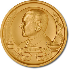 Eric P. Newman Centenary medal obverse