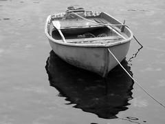 a boat  (cyberjani) Tags: sea bw island boat explore vis adriatic blackdiamond komia