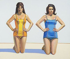 Waybe Thiebaud, Two Kneeling Figures, 1966