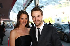 James Hinchcliffe & his date Melissa (indianapolismotorspeedway.com) Tags: camera speed canon mark length mode rating eos1d 401 ims indy500 indianapolis500 indianapolismotorspeedway jameshinchcliffe 5focal iiiexposure 1100fnumber 5610iso 320metering victoryawardsbanquet