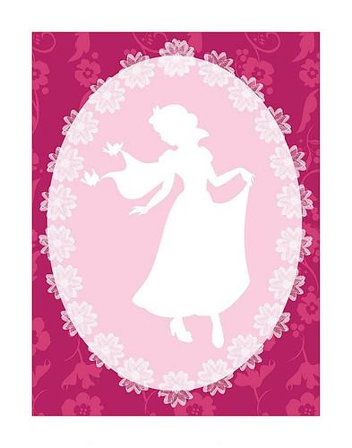 Snow White Cameo Poster (2)