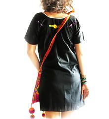 Mexican embroidered dress (Aida Coronado Galeria) Tags: store worldwide online boho shipping gypsy blackdress tunic mexicandress embroidereddress aidacoronado
