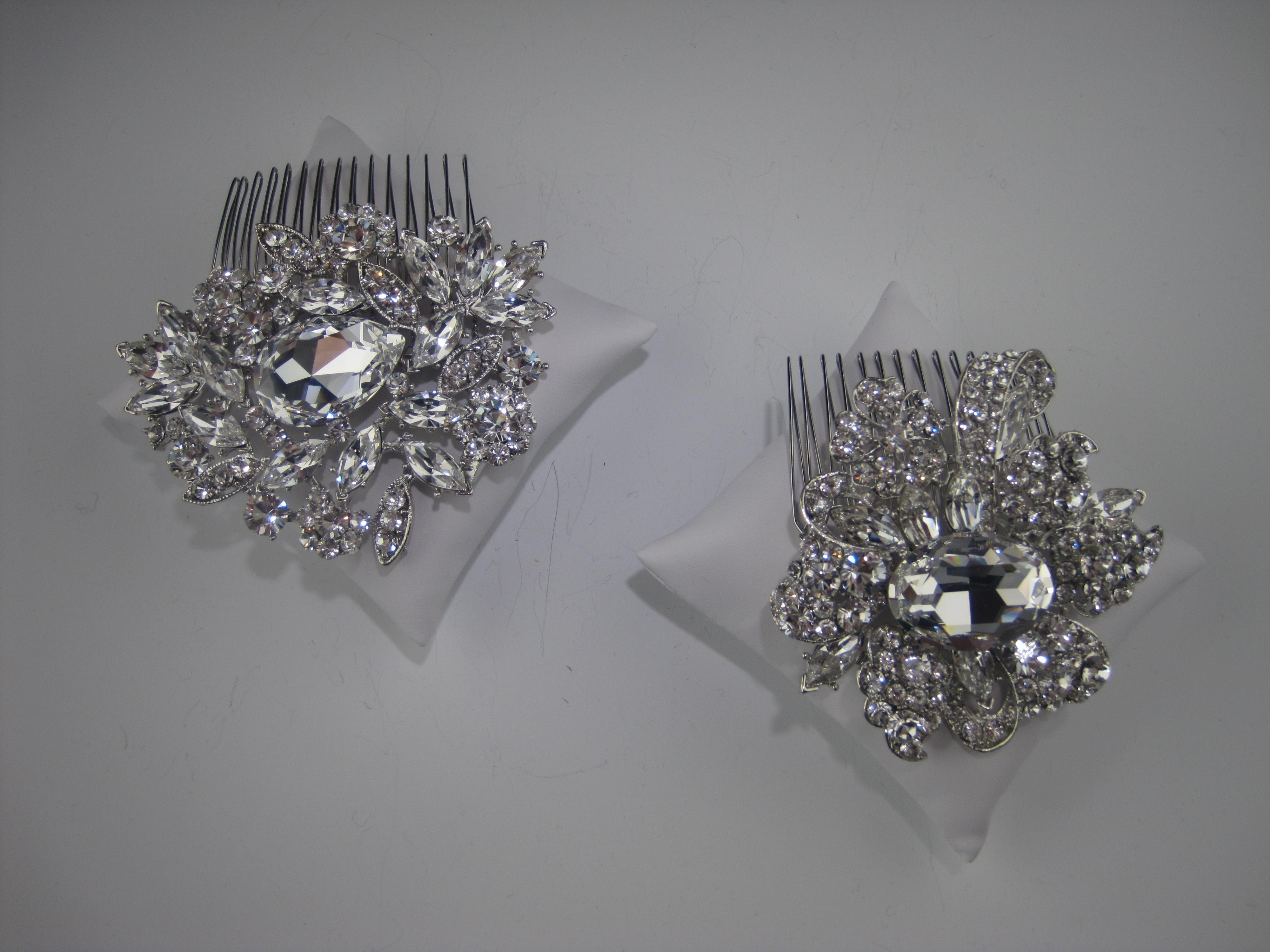 vintage inspired bridal combs, elegant bridal accessories