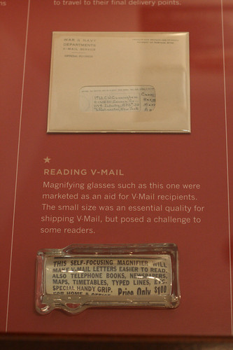 V-Mail, in envelope & magnifier