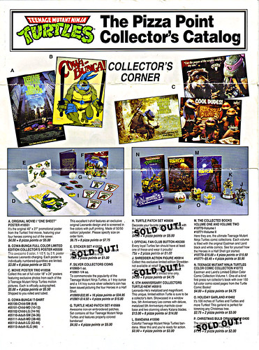 TEENAGE MUTANT NINJA TURTLES :: The Pizza Point Collector's Catalog { Full Colour Edition } pg. 1 (( 199x ))