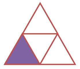 Image result for triangle showing quarters