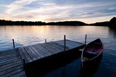 Summertime on the Lake (Mike Cialowicz) Tags: sunset summer sky lake water beautiful docks landscape ma dock nikon massachusetts canoe tokina summertime canoeing f4 1224 stow atx d90 lakeboon lakeboone tokina1224f4atxii